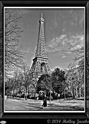 Digital Art - Paris by Holley Jacobs