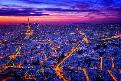 Aerial Photograph - Paris I by Juan Pablo De