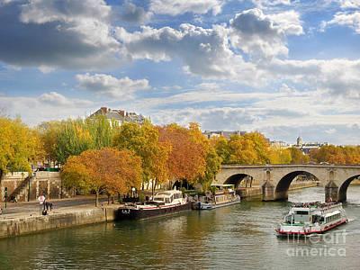 Louvre Photograph - Paris In Autumn by Delphimages Photo Creations