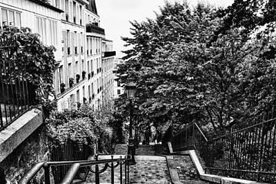 Paris In Black And White Art Print by Georgia Fowler