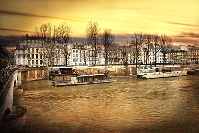 Paris Skyline Royalty-Free and Rights-Managed Images - Paris in Gold by Evie Carrier