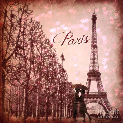Digital Art - Paris In Love  by Mindy Bench