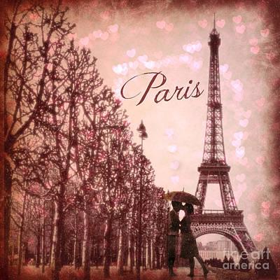 Digital Art - Paris In Love  by Mindy Bench