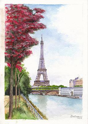 Bir Painting - Paris In Spring - Ile Aux Cygnes by Dai Wynn