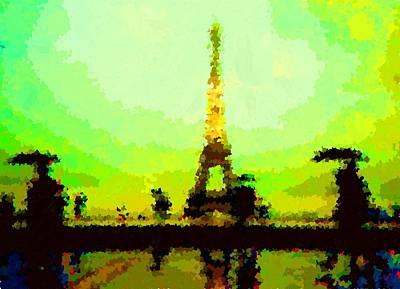 Painting - Paris In The Rain 1 by Samuel Majcen