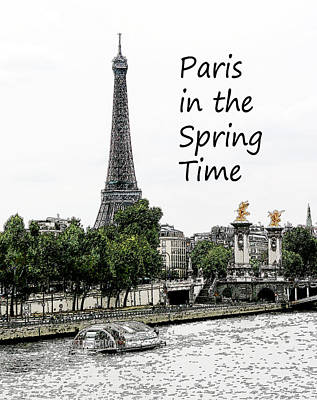 Paris In The Spting Time Art Print