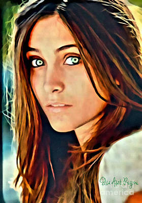 Aset Digital Art - Paris Jackson by Elsa Aset Rigoni