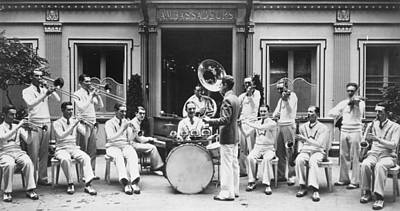 Les Ambassadeurs Photograph - Paris Jazz Band, 1928 by Granger