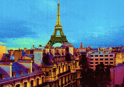 Night Time Painting - Paris by Jeanette Korab