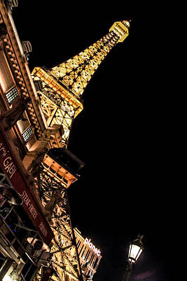 Photograph - Paris Las Vegas At Night by Eti Reid
