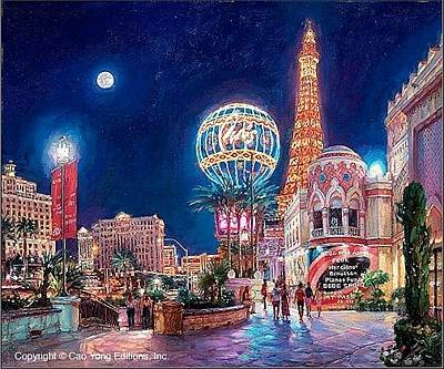 Cao Yong Painting - Paris Las Vegas by Ceo Yong