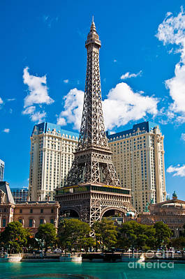 Photograph - Paris Las Vegas by Eddie Yerkish