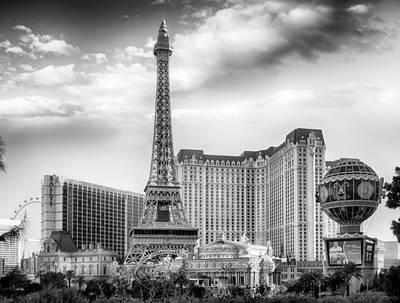 Photograph - Paris Las Vegas by Howard Salmon