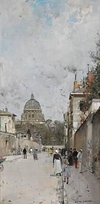 Dome Painting - Paris Le Dome De Leglise Du Val De Grace by Celestial Images
