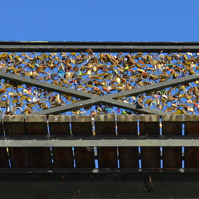 Photograph - Paris Locks Of Love  by Cheryl Miller