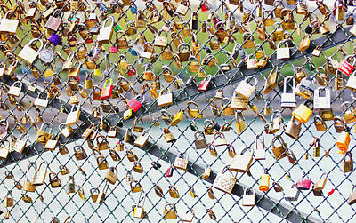 Paris - Locks Of Love Art Print
