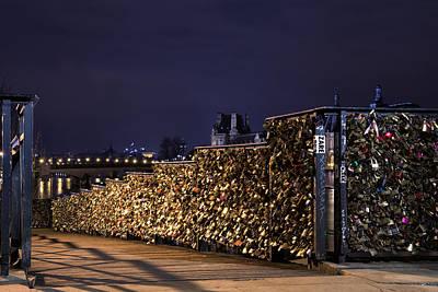 Photograph - Paris Lovers Bridge by Radoslav Nedelchev