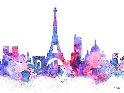 Paris Painting - Paris by Watercolor Girl