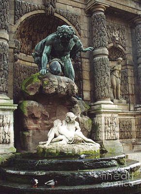 Paris Luxembourg Gardens- Medici Fountain Print by Kathy Fornal