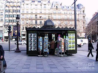 Paris Magazine Kiosk Art Print by Thomas Marchessault