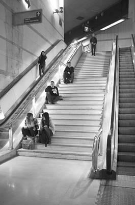 Paris Mall Stairs Original by Hugh Smith