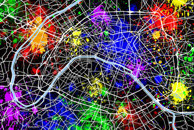 French Map Digital Art - Paris Map by Stephen Younts