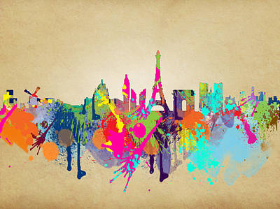 San Francisco Landmarks Digital Art - Paris by Mark Ashkenazi