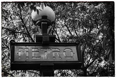 Metro Art Photograph - Paris Metro Bw by Georgia Fowler