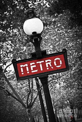 Street Lights Photograph - Paris Metro by Elena Elisseeva