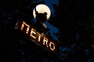 Photograph - Paris Metro In The Evening by Denise Dube
