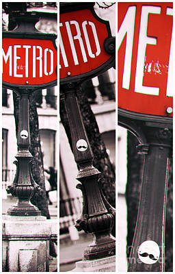 Photograph - Paris Metro Panels by John Rizzuto