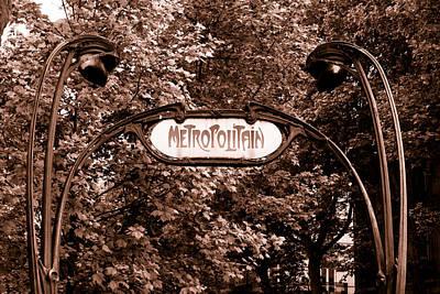 Metro Art Photograph - Paris Metropolitain Toned by Georgia Fowler
