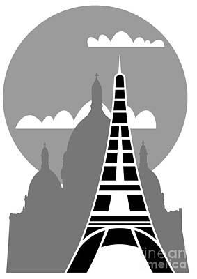 Sacre Coeur Digital Art - Paris by Michal Boubin