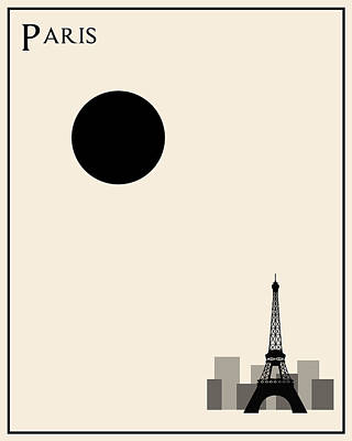 Paris Minimalist Travel Poster Art Print