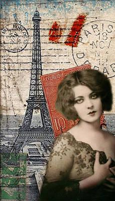 Roaring Twenties Mixed Media - Paris Momento by Sandy Lloyd