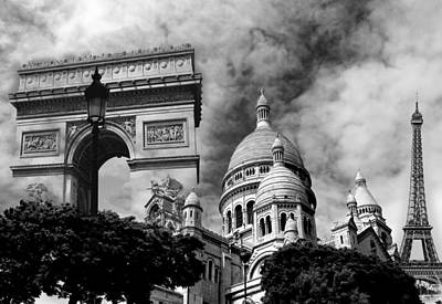 Photograph - Paris Montage 1 by Andrew Fare