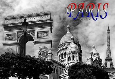 Photograph - Paris Montage 2 by Andrew Fare