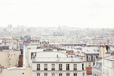 Paris Skyline Royalty-Free and Rights-Managed Images - Paris Montmartre Rooftop by Ivy Ho