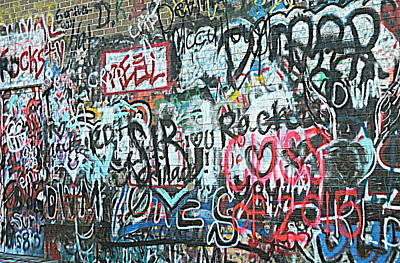 Art Print featuring the photograph Paris Mountain Graffiti by Kathy Barney