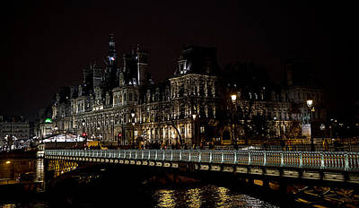 Persian Carpet Photograph - Paris Night Along The Seine by Evie Carrier