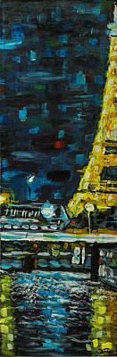 Painting - Paris Night by Joel Tesch