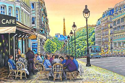 Paris Nights Art Print by David Linton