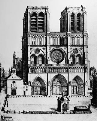 Notre Dame Drawing - Paris Notre Dame, 1699 by Granger
