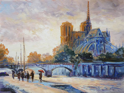 Seine Painting - Paris Notre Dame by Irek Szelag