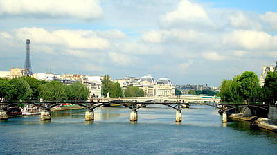 Paris On The Seine Art Print by Kay Gilley
