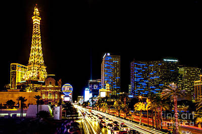 Paris Skyline Photograph - Welcome To Vegas by Az Jackson