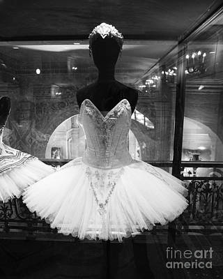 Paris Opera Garnier Ballerina Tutu - Paris Black And White Ballerina Prints - Ballerina Decor Art Print by Kathy Fornal