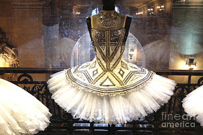 Couture Photograph - Paris Opera House Ballerina Costume Tutu - Paris Opera Des Garnier Ballerina Tutu Dresses by Kathy Fornal