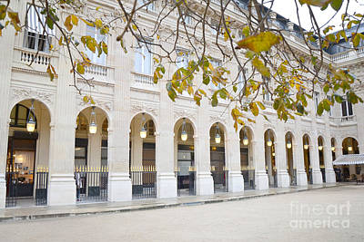 Paris Palais Royal Columns - Paris Winter White Palais Royal Architecture Art Print