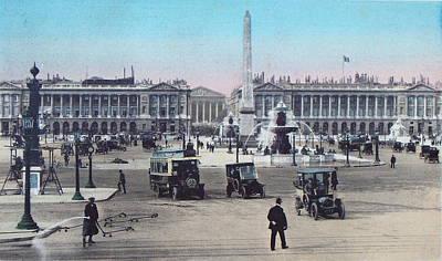 Paris Place De La Concorde 1910 Original